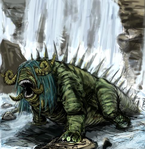 The Art Crusade (battle 3 - Thunderfalls crossing - river guardian)